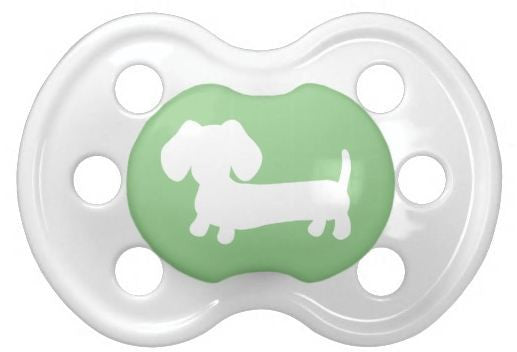 Gender Neutral Sausage Dog Pacifiers for Baby, The Smoothe Store