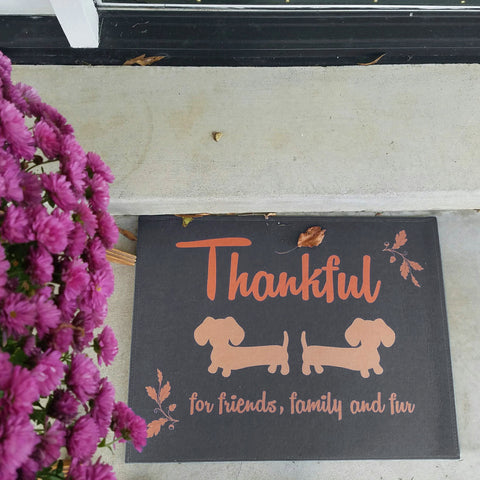 Thanksgiving Autumn Dachshund Doormat