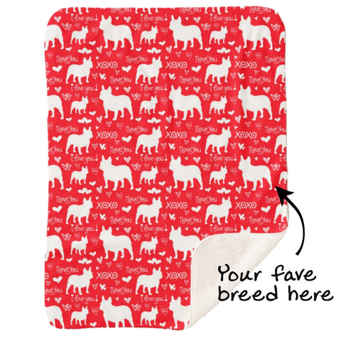 I Love You Dog Blanket - Pick Your Breed