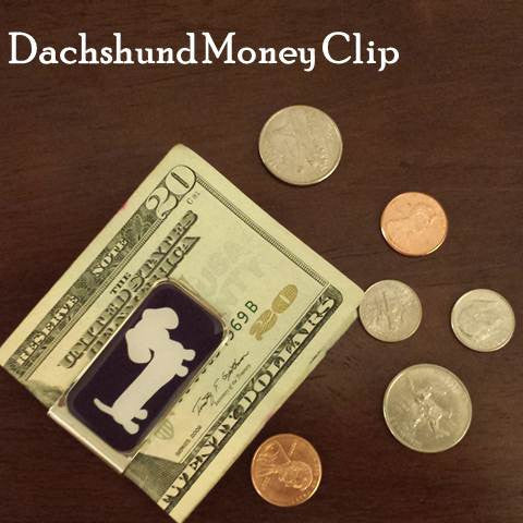 Men's Dachshund Money Clip, The Smoothe Store