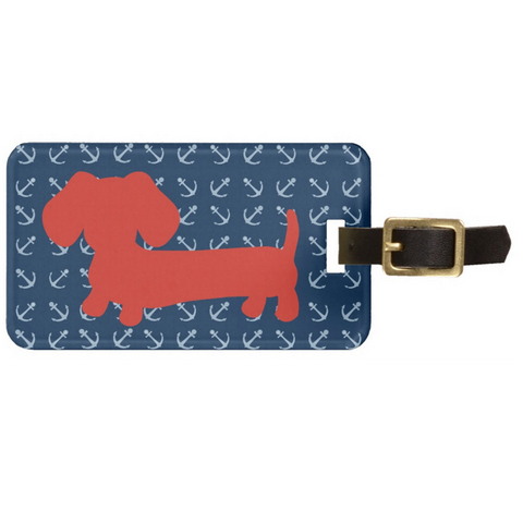 American Wiener or Rainbow Dachshund Luggage Bag Tags, The Smoothe Store