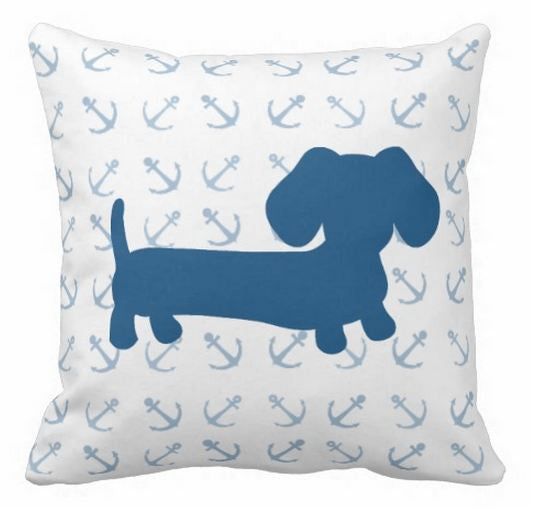 Nautical Dachshund Pillow, The Smoothe Store