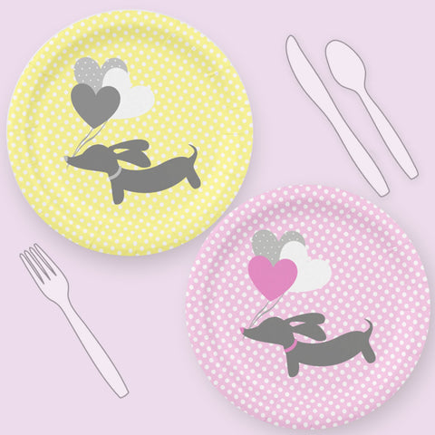 Wiener Dog Party Plates, The Smoothe Store