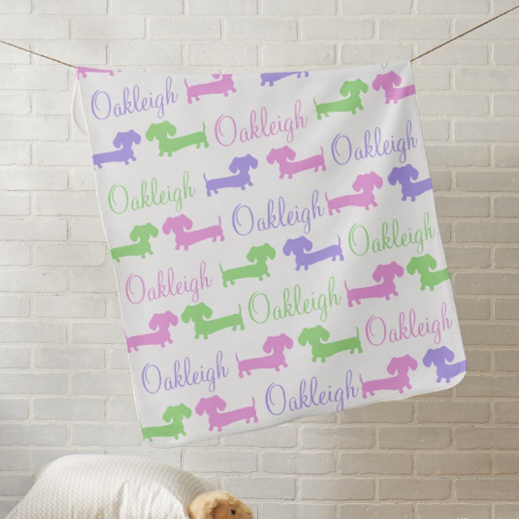 Personalized Dachshund Nursery Blankets - The Smoothe Store - 1