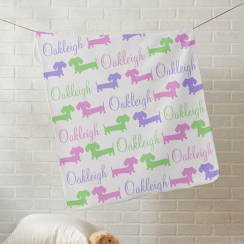 Personalized Dachshund Nursery Blankets, The Smoothe Store