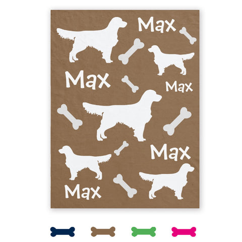 Lots of Breeds - Personalized Dog Blanket