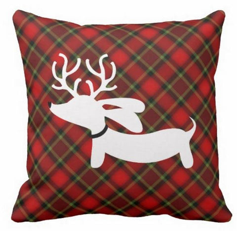 Reindeer Dachshund Holiday Accent Pillows - The Smoothe Store - 2