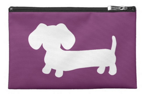 Dachshund Travel and Small Accessory Pouch Bags - The Smoothe Store - 3
