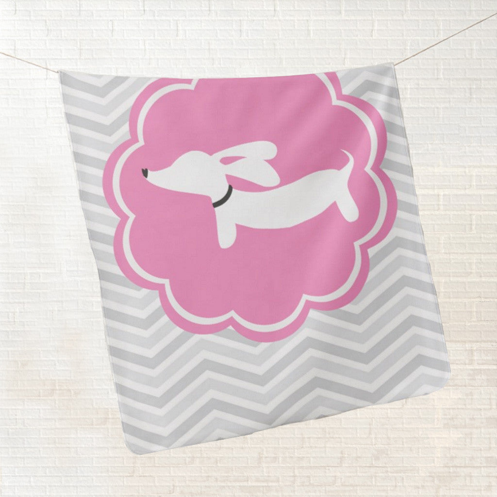 Pink Dachshund Fleece Baby Blanket, The Smoothe Store