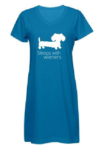 Sleeps With Wieners Dachshund Night Shirt, The Smoothe Store