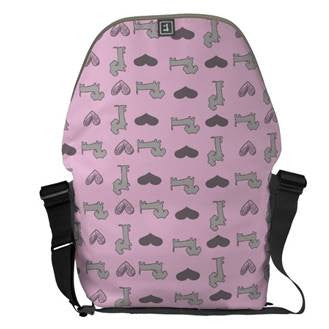 Pastel Dachshund Messenger Bag - The Smoothe Store