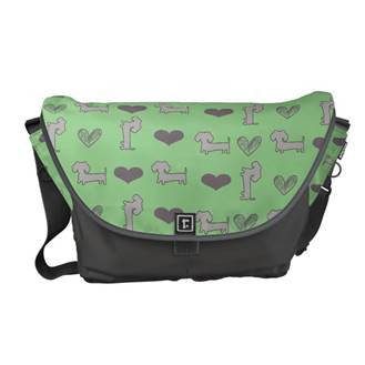 Pastel Dachshund Messenger Bag, The Smoothe Store