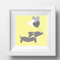 dachshund nursery art