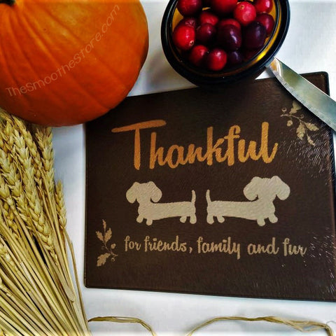 Wiener Dog Thanksgiving Day Cutting Board