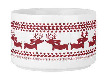 Fair Isle Dachshund Chili Soup Bowl - The Smoothe Store