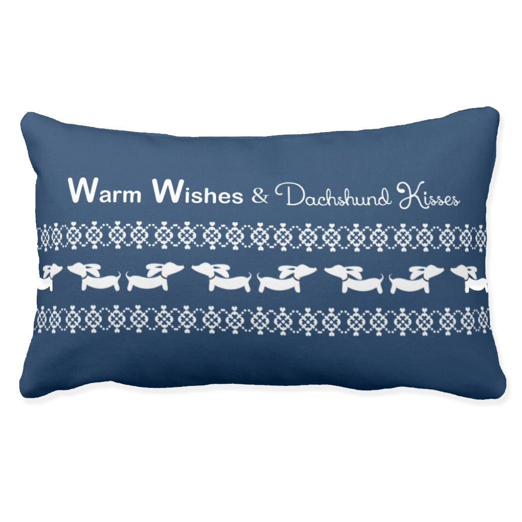 Warm Wishes & Dachshund Kisses Lumbar Pillow - The Smoothe Store