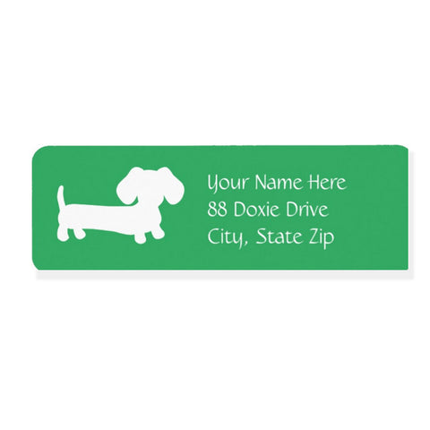 Dachshund Return Address Labels - Lots of Colors - The Smoothe Store