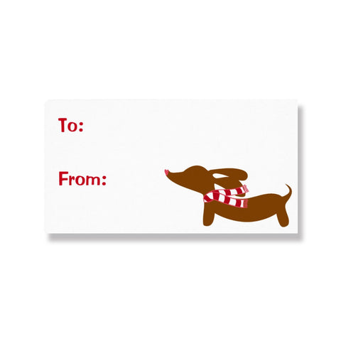 Dachshund Christmas Gift Labels (8 per sheet)