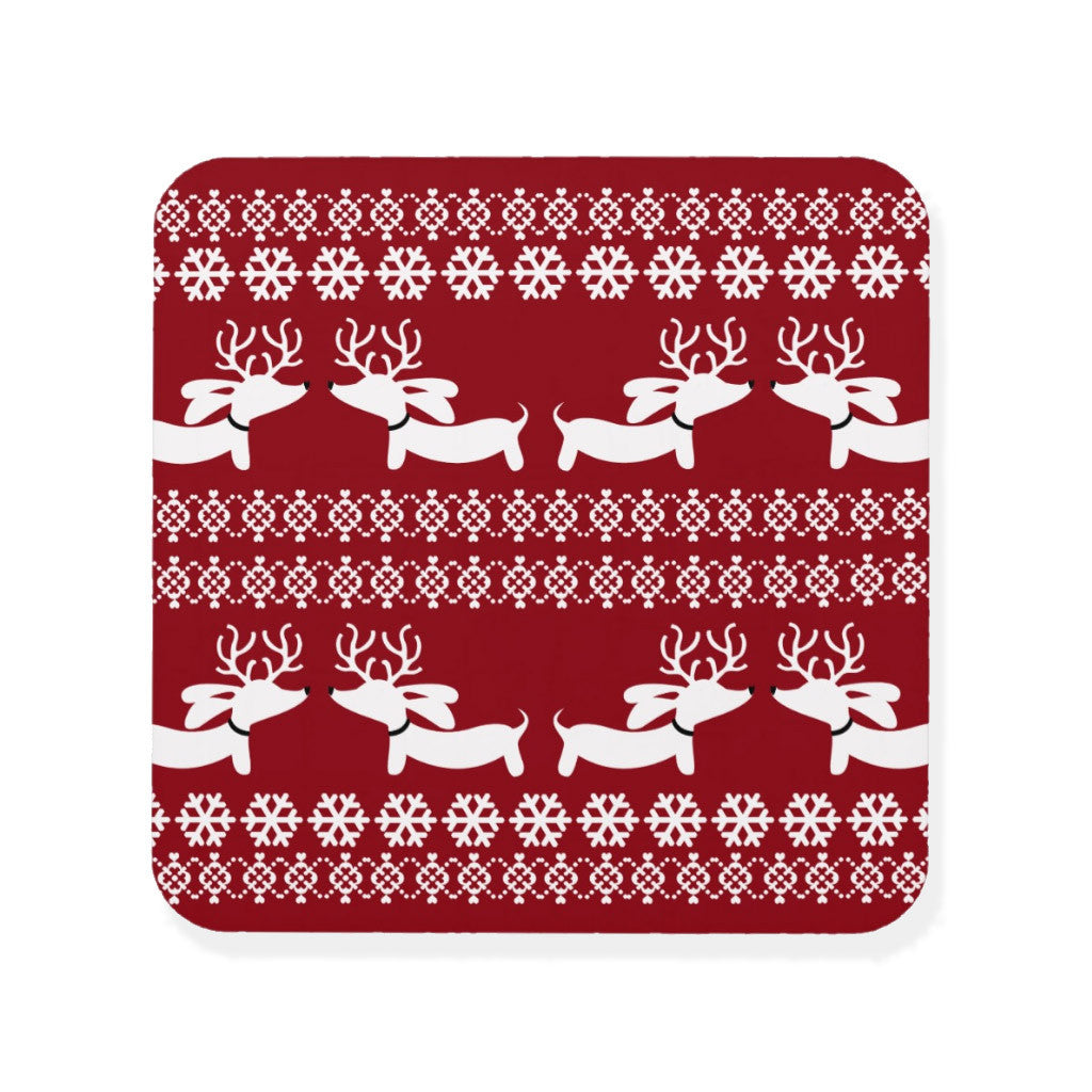 Fair Isle Dachshund Drink Coaster Set - The Smoothe Store