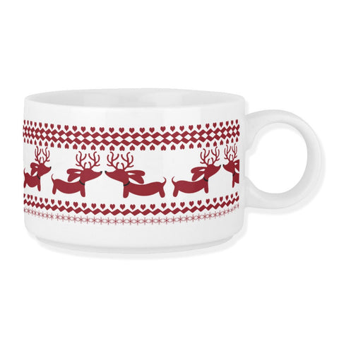 Fair Isle Dachshund Chili Soup Bowl