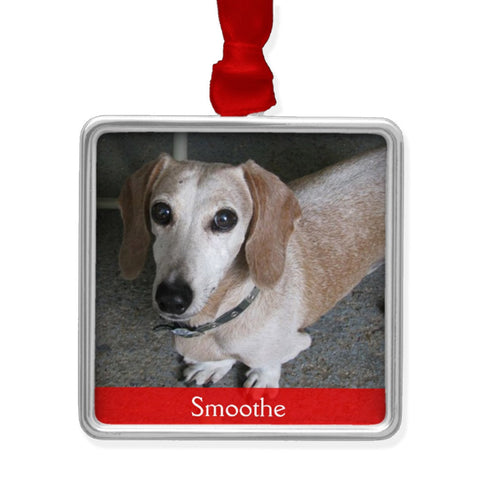Custom Photo Dachshund Christmas Tree Ornament