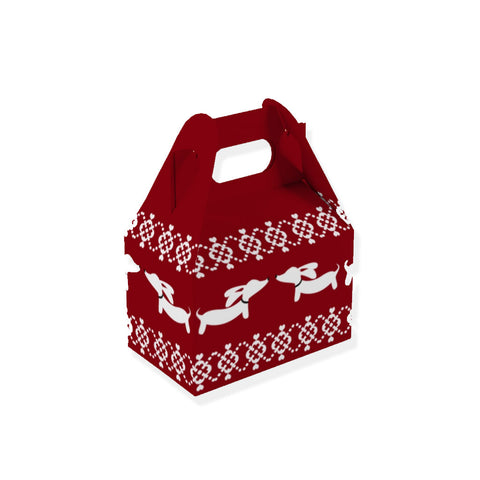 Ugly Sweater Dachshund Holiday Gift Boxes