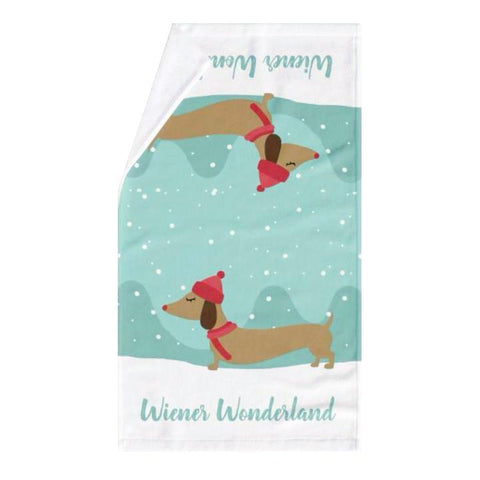 Wiener Wonderland Dish Cloth or Hand Towel, The Smoothe Store