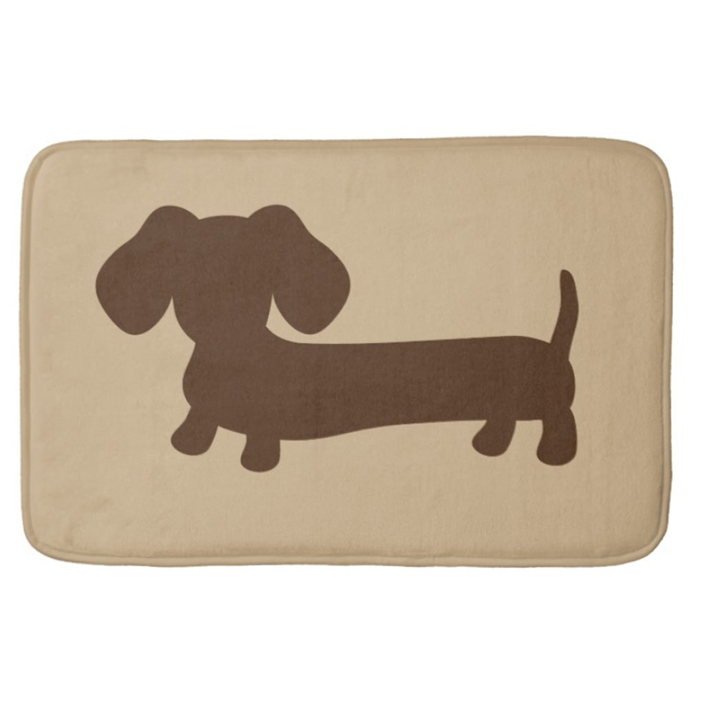 Brown and Tan Dachshund Bath Mat, The Smoothe Store