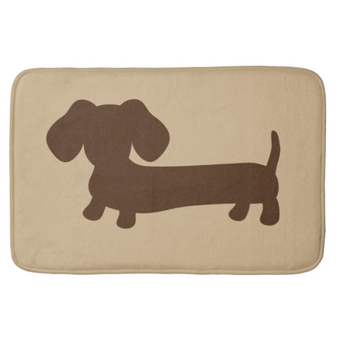 Brown and Tan Dachshund Bath Mat