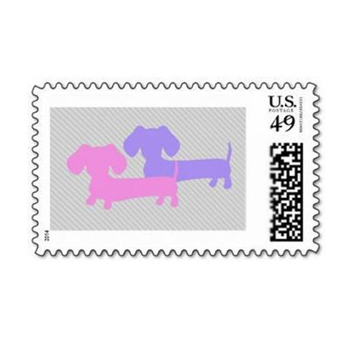Double Doxie Postage Stamps