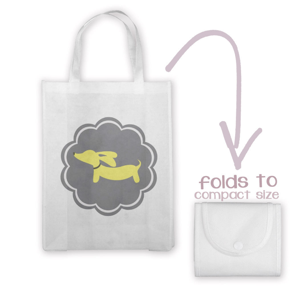 Yellow and Gray Doxie Tote Bag, The Smoothe Store