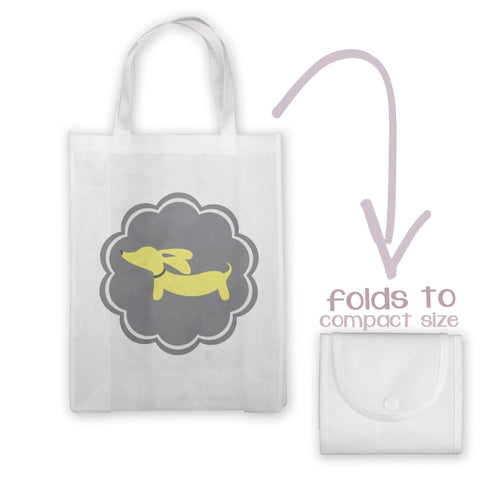 Yellow and Gray Doxie Tote Bag