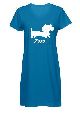 Dachshund Zzzzz Night Gown Sleep Shirt, The Smoothe Store