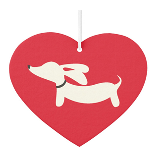 Heart Shaped Dachshund Air Freshener