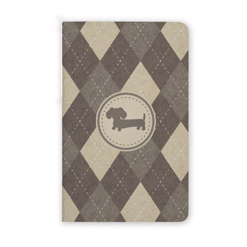 Men's Mini Wiener Dog Pocket Notebooks