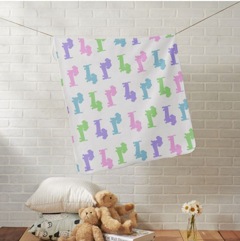 Pastel Doxies Fleece Blanket