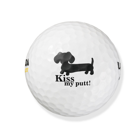 Kiss My Putt Dachshund Golf Balls