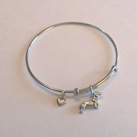Dachshund Bangle Charm Bracelet