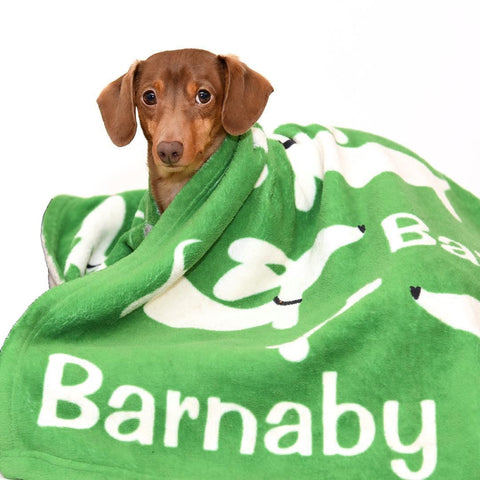 Personalized Dachshund Fleece Blanket, The Smoothe Store