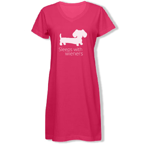 Pink Sleeps With Wieners Dachshund Night Shirt - The Smoothe Store