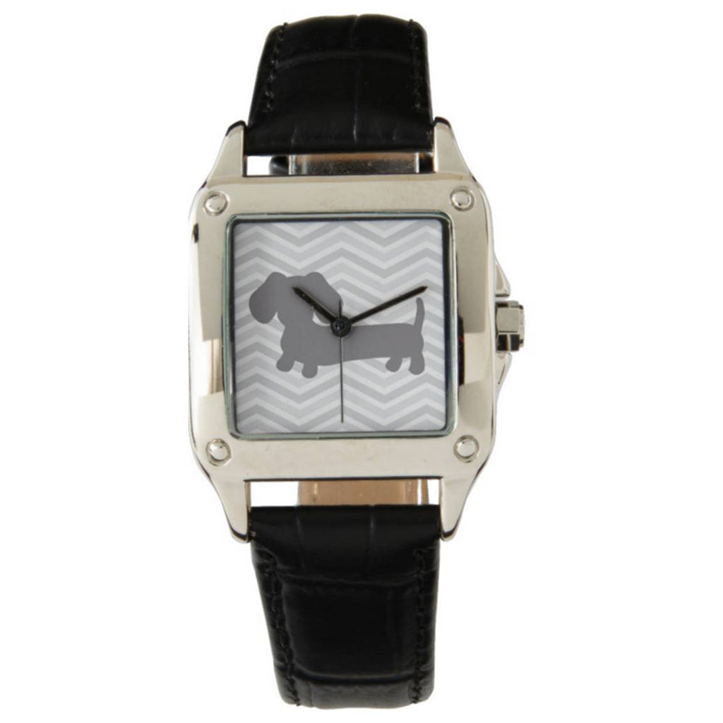 Wiener Dog Watch with Gray Chevrons, The Smoothe Store
