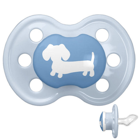 Blue Dachshund Pacifier for Baby