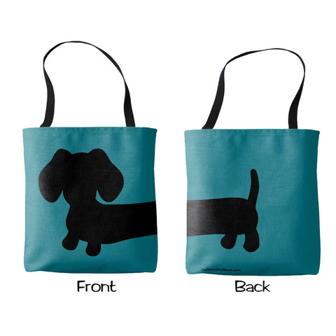 Brightly Colored Dachshund Tote Bag, The Smoothe Store