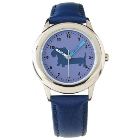 Kids Blue Dachshund Watch