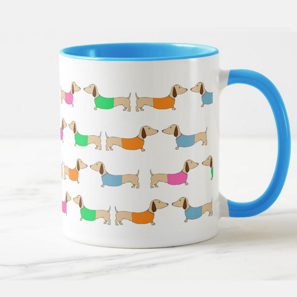 Colorful Dachshund Coffee Cups, The Smoothe Store