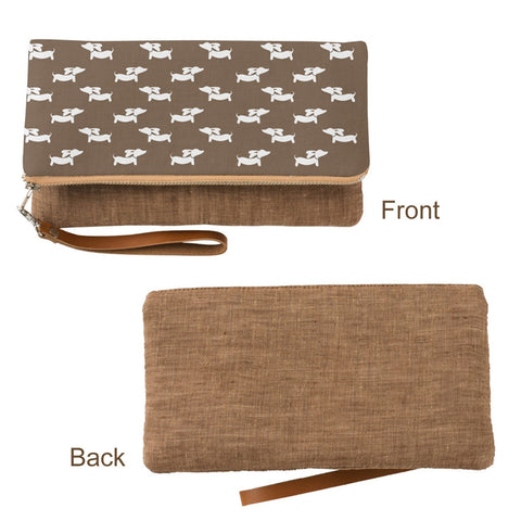 Brown Dachshund Fold-Over Clutch - The Smoothe Store - 2