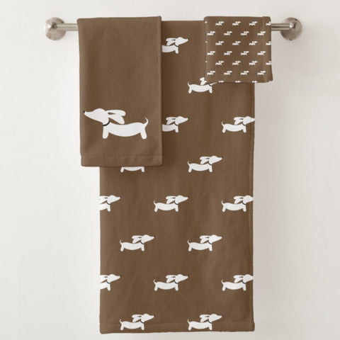 Dachshund Bathroom Towel Sets, The Smoothe Store