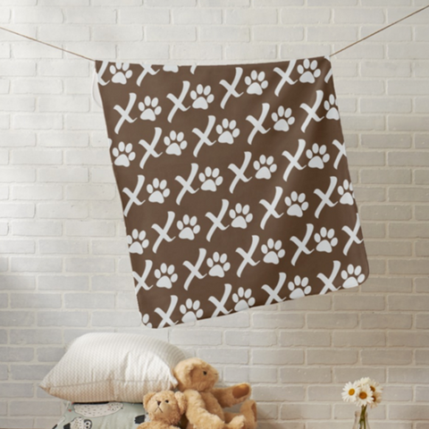 XOXO Puppy Love Blankets | Pink, Teal or Chocolate