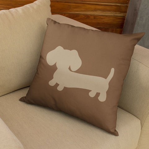 Brown and Tan Dachshund Pillow