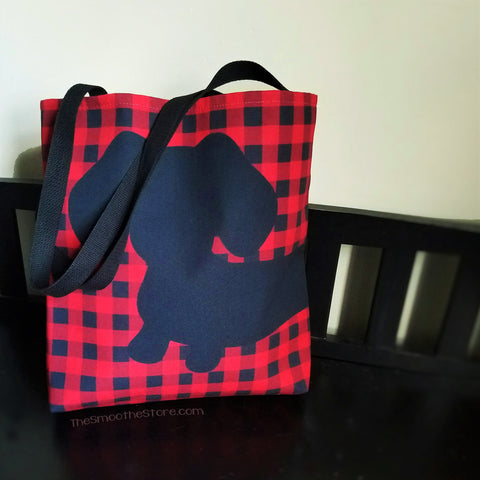 Buffalo Plaid Dachshund Tote Bag - The Smoothe Store - 2